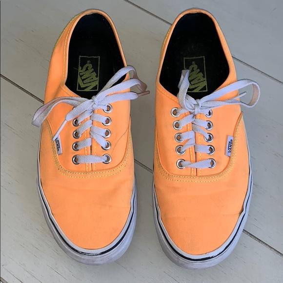 Vans neon orange and yellow shoes 10 women 8.5 men
